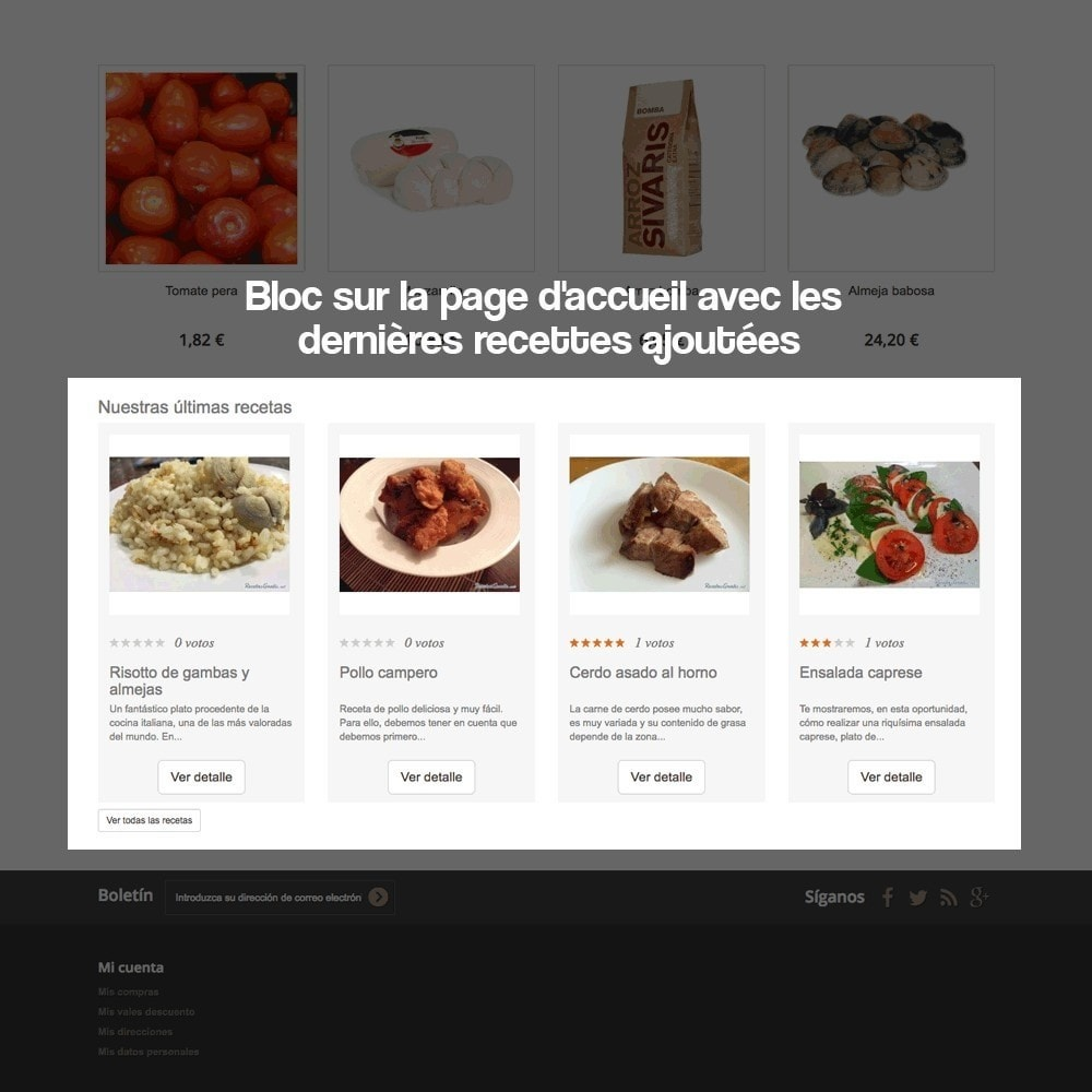 module - Blog, Forum & Actualités - Gestionnaire de recettes avec des produits magasin - 9