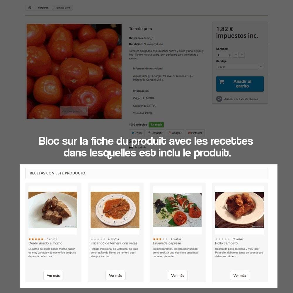 module - Blog, Forum & Actualités - Gestionnaire de recettes avec des produits magasin - 11