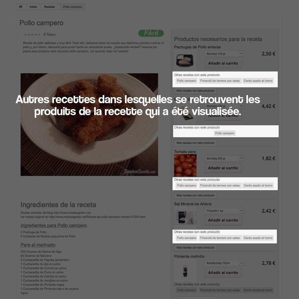 module - Blog, Forum & Actualités - Gestionnaire de recettes avec des produits magasin - 13