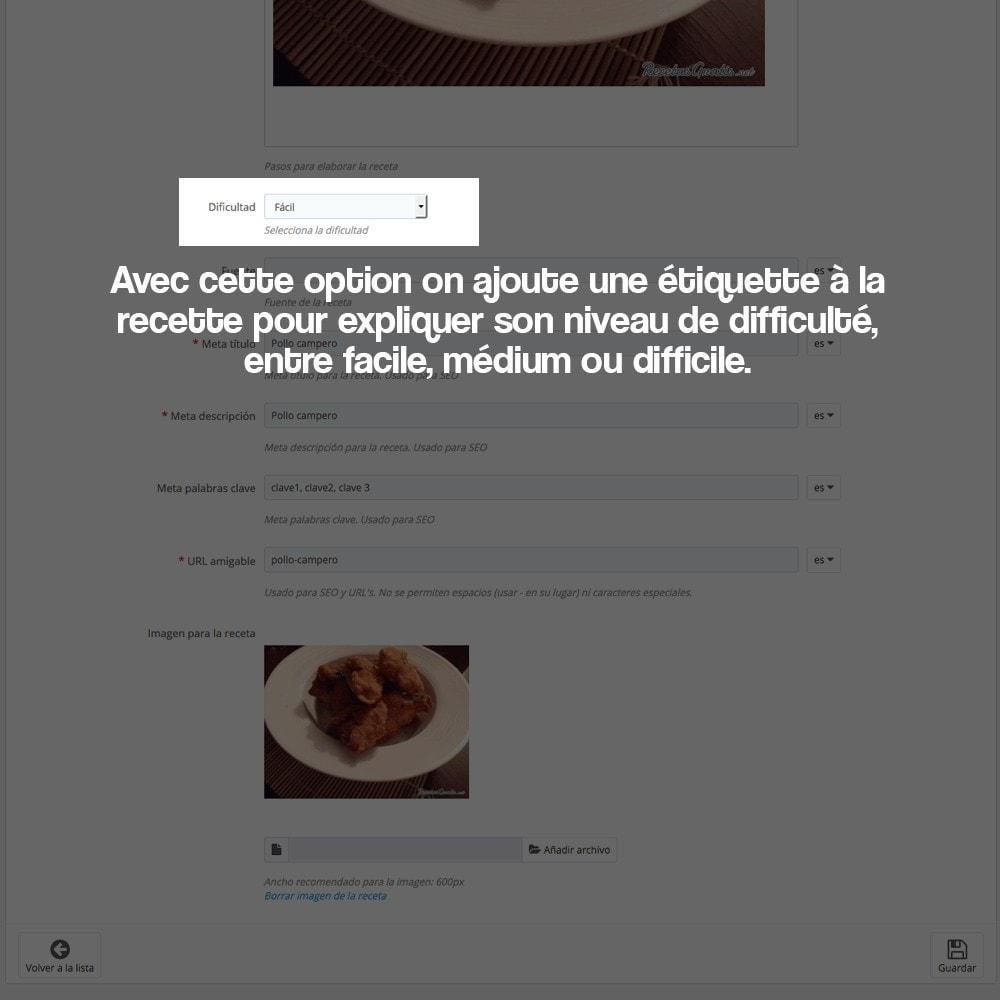 module - Blog, Forum & Actualités - Gestionnaire de recettes avec des produits magasin - 24
