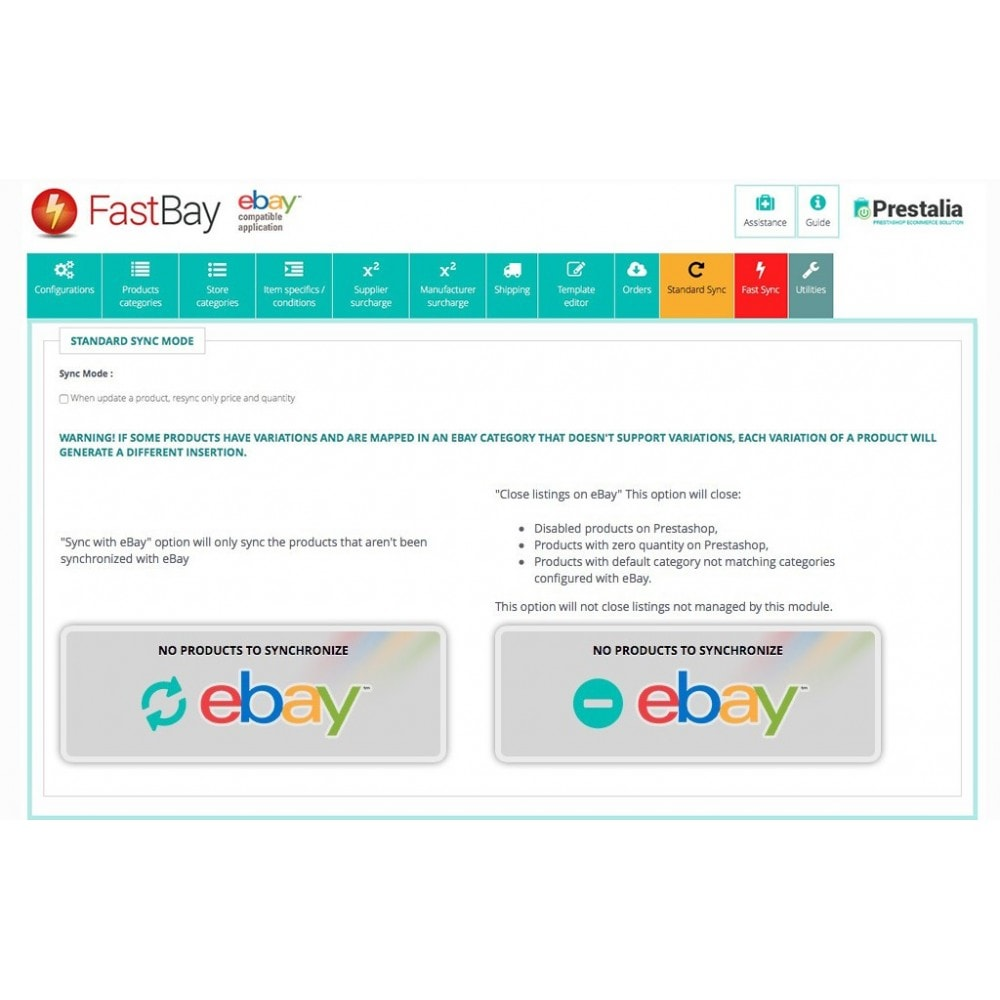 module - Marketplaces - FastBay - eBay Marketplace synchronisation - 11