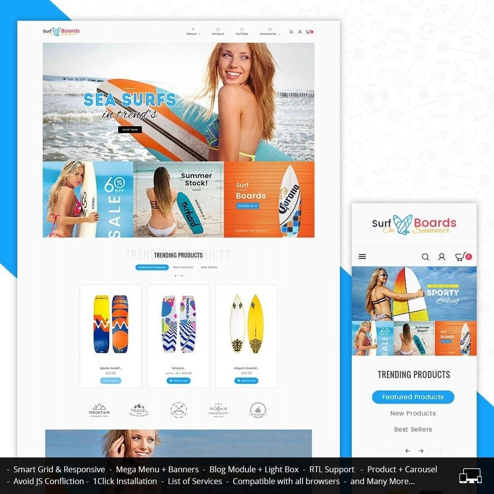 theme - Sport, Activiteiten & Reizen - Surf Summer Beach - 1