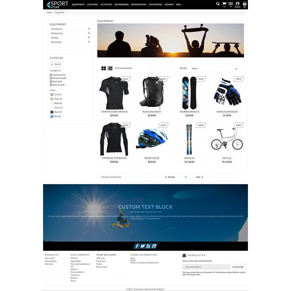 theme - Sports, Activities & Travel - Sport Store - 4