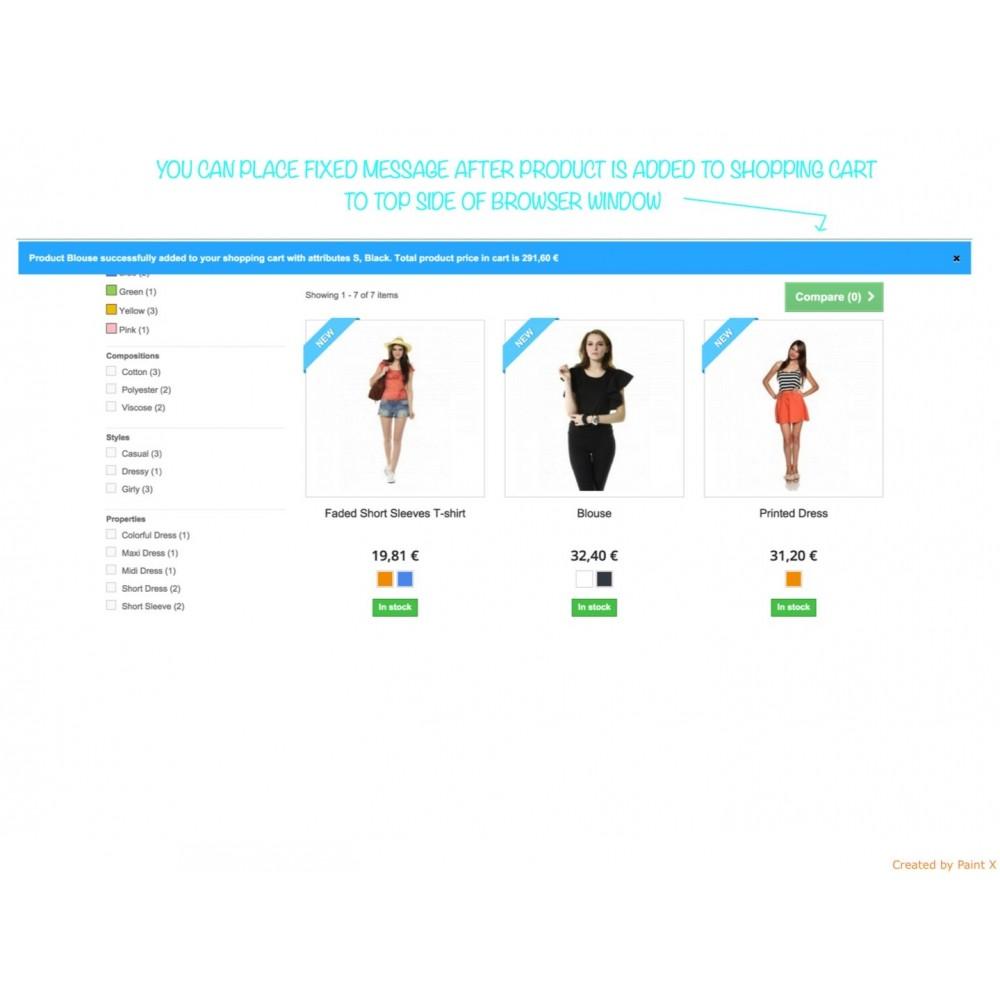 module - Anmeldung und Bestellvorgang - Effekt des Warenflugs, Pop-up zu und andere Animationen - 5