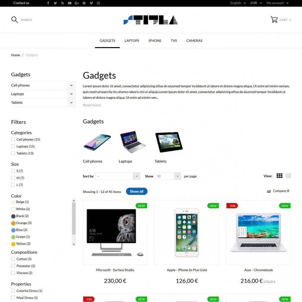 theme - Elettronica & High Tech - Stijla - High-tech Shop - 5