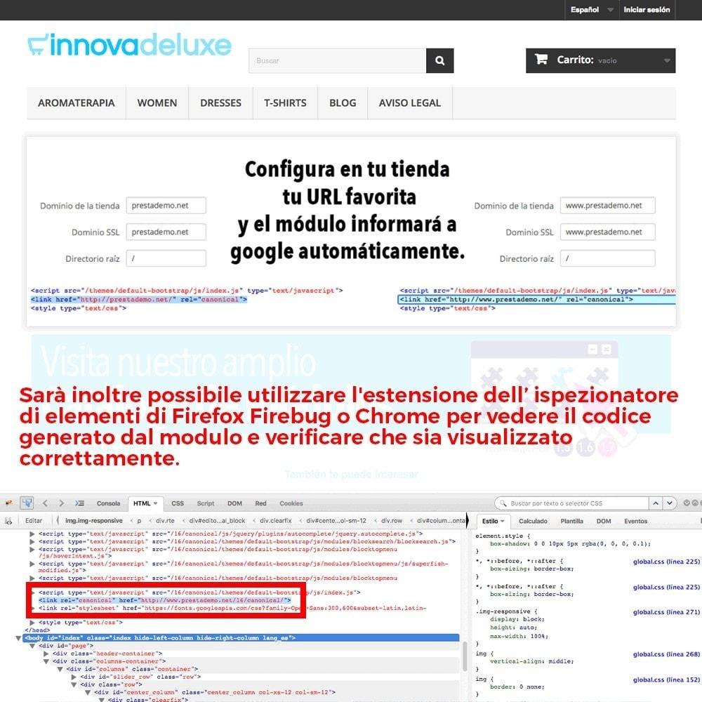 module - URL & Redirect - Informazione URL reindirizzamento canonico per Google - 5