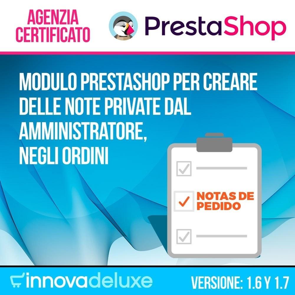 module - Gestione Ordini - Note private del amministratore nelle ordini - 1