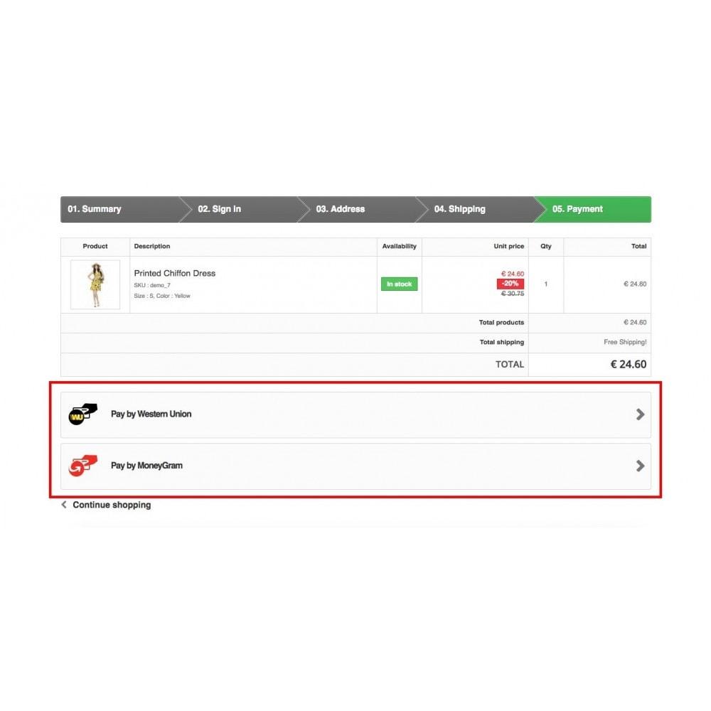 module - Оплата банковской картой или с помощью электронного кошелька - Western Union and Money Gram with Online Payment button - 8