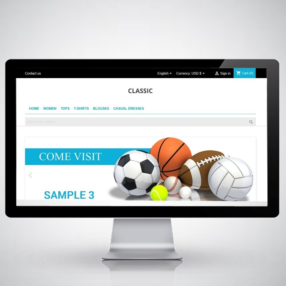 theme - Sports, Activities & Travel - ClassicBlack - Extreme Sports Store - 1