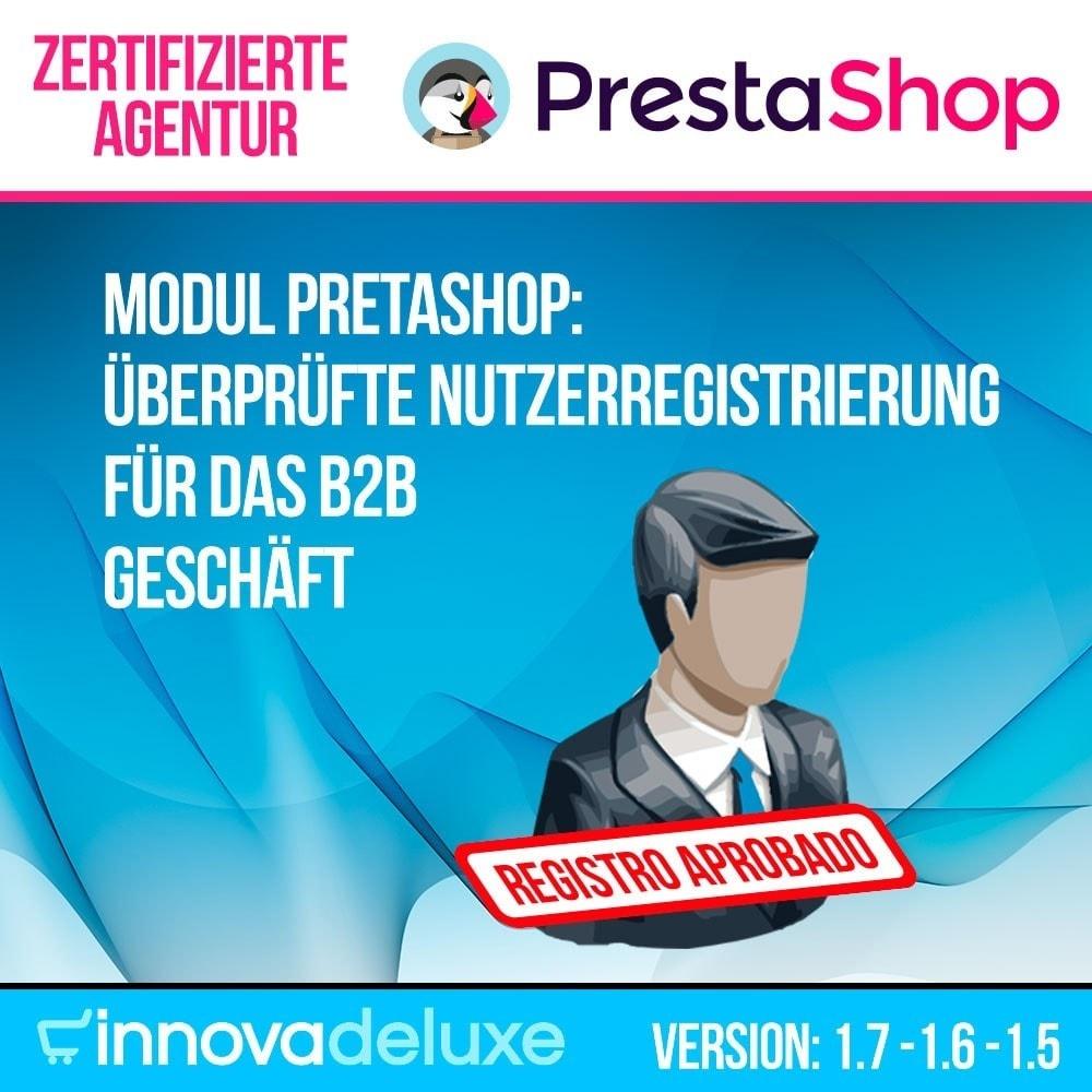 module - B2B - Überprüfte Nutzerregistrierung für das B2B Geschäft - 1