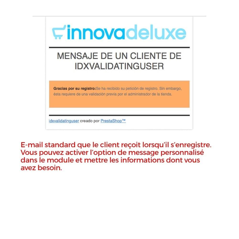 module - B2B - Enregistrement de clients validé par l'administrateur - 17