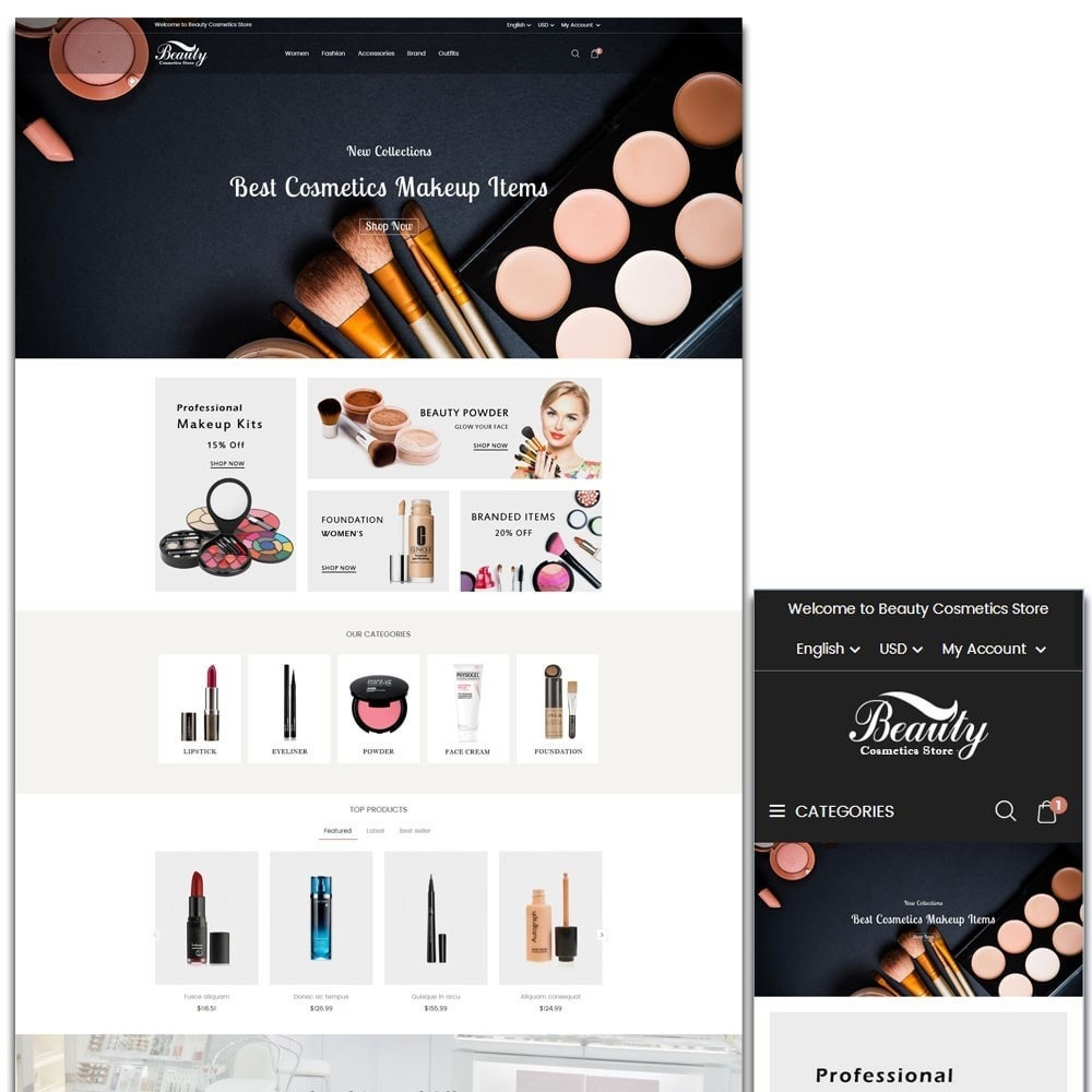 theme - Health & Beauty - Beauty Cosmetics Store - 1