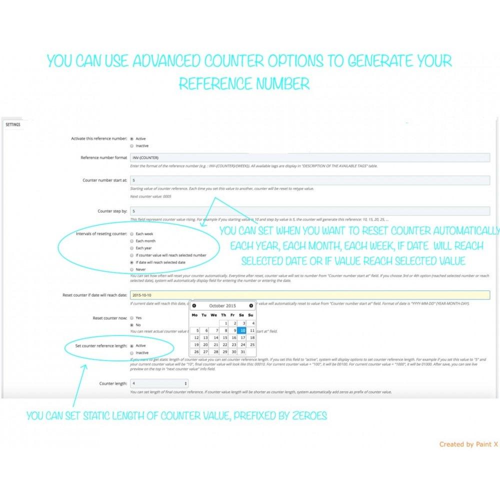 module - Contabilità & Fatturazione - Impostazioni avanzate per numeri di tutti documenti - 4