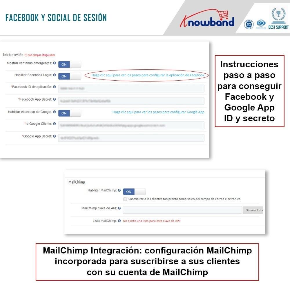 module - Proceso rápido de compra - Knowband - One Page Checkout, Social Login & Mailchimp - 15