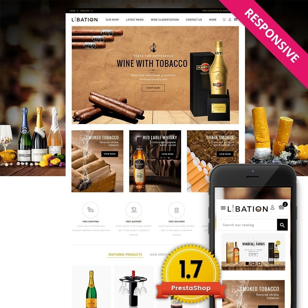 theme - Boissons & Tabac - Libation Wine Store - 1