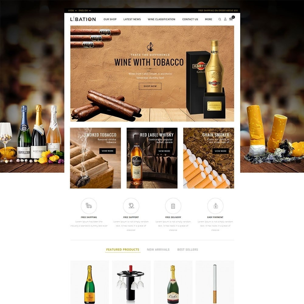 theme - Boissons & Tabac - Libation Wine Store - 2