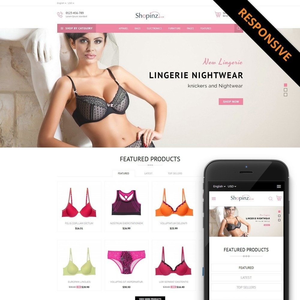 theme - Mode & Chaussures - Lingerie Store - 1