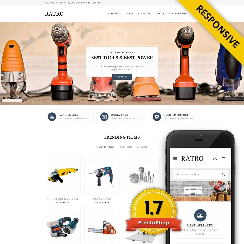 theme - Automotive & Cars - Ratro - Tools shop - 1