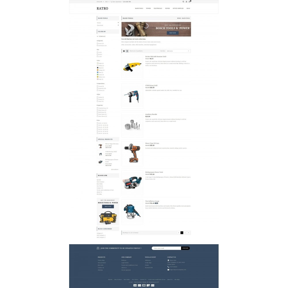 theme - Automotive & Cars - Ratro - Tools shop - 4
