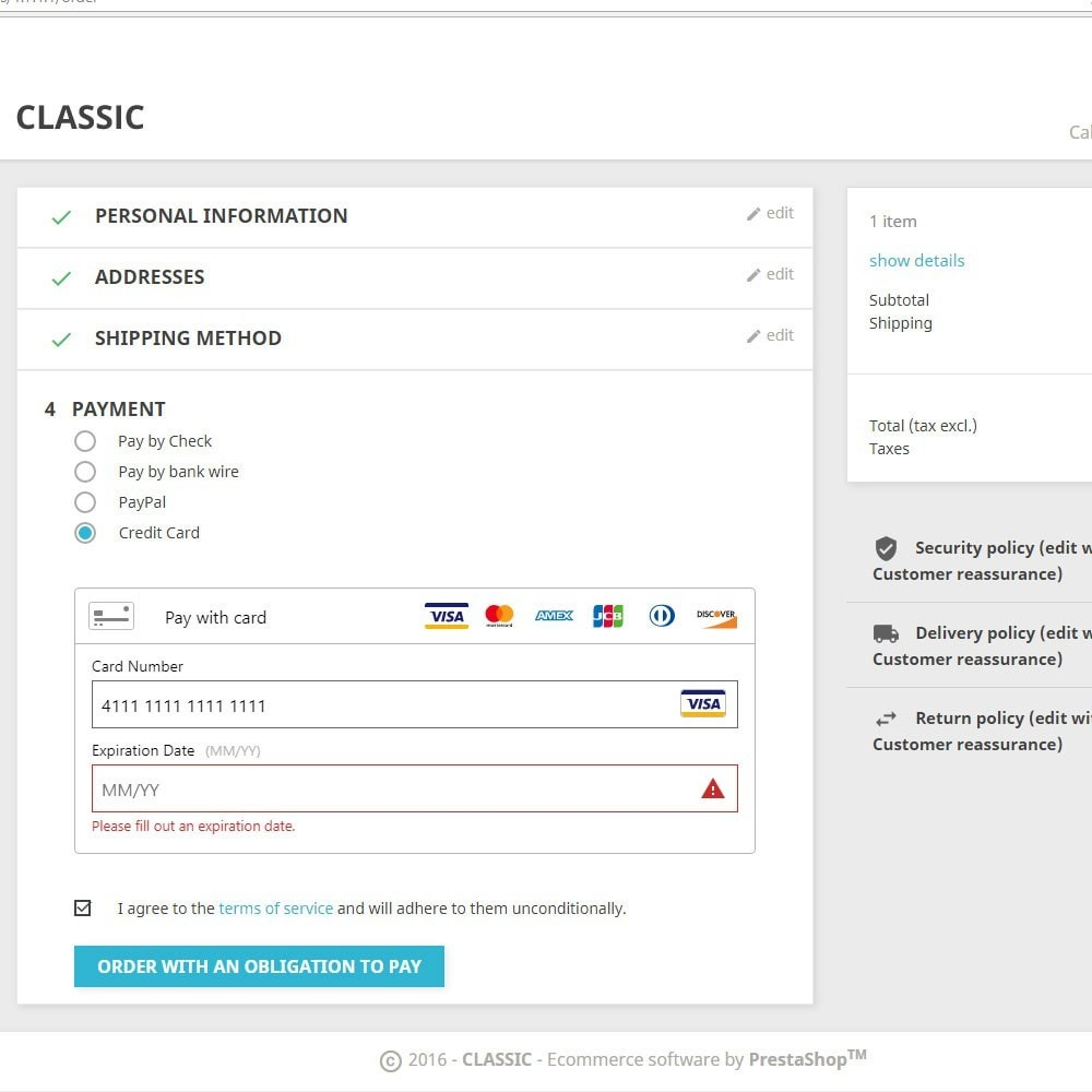 module - Pago con Tarjeta o Carteras digitales - PayPal Braintree - 1