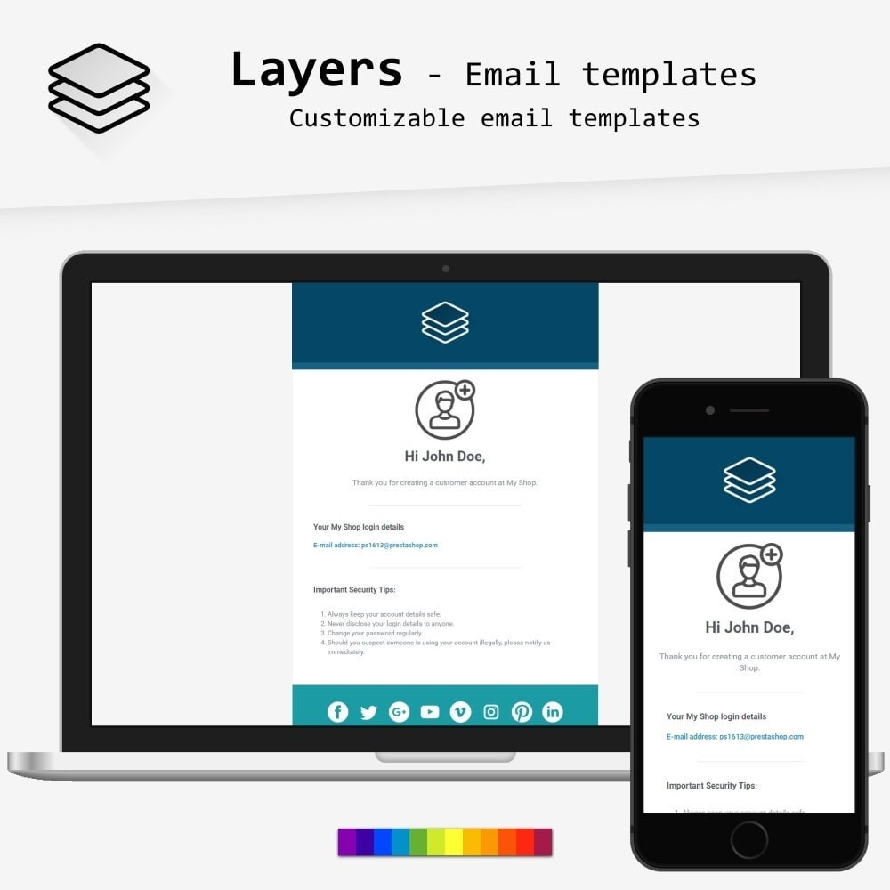 Layers - template di e-mail