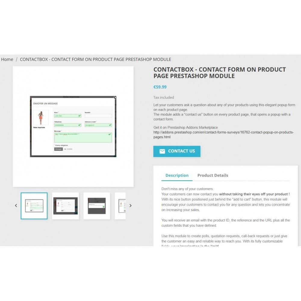 module - Formulaires de Contact & Sondages - ContactBox - formulaire de contact personnalisable - 2