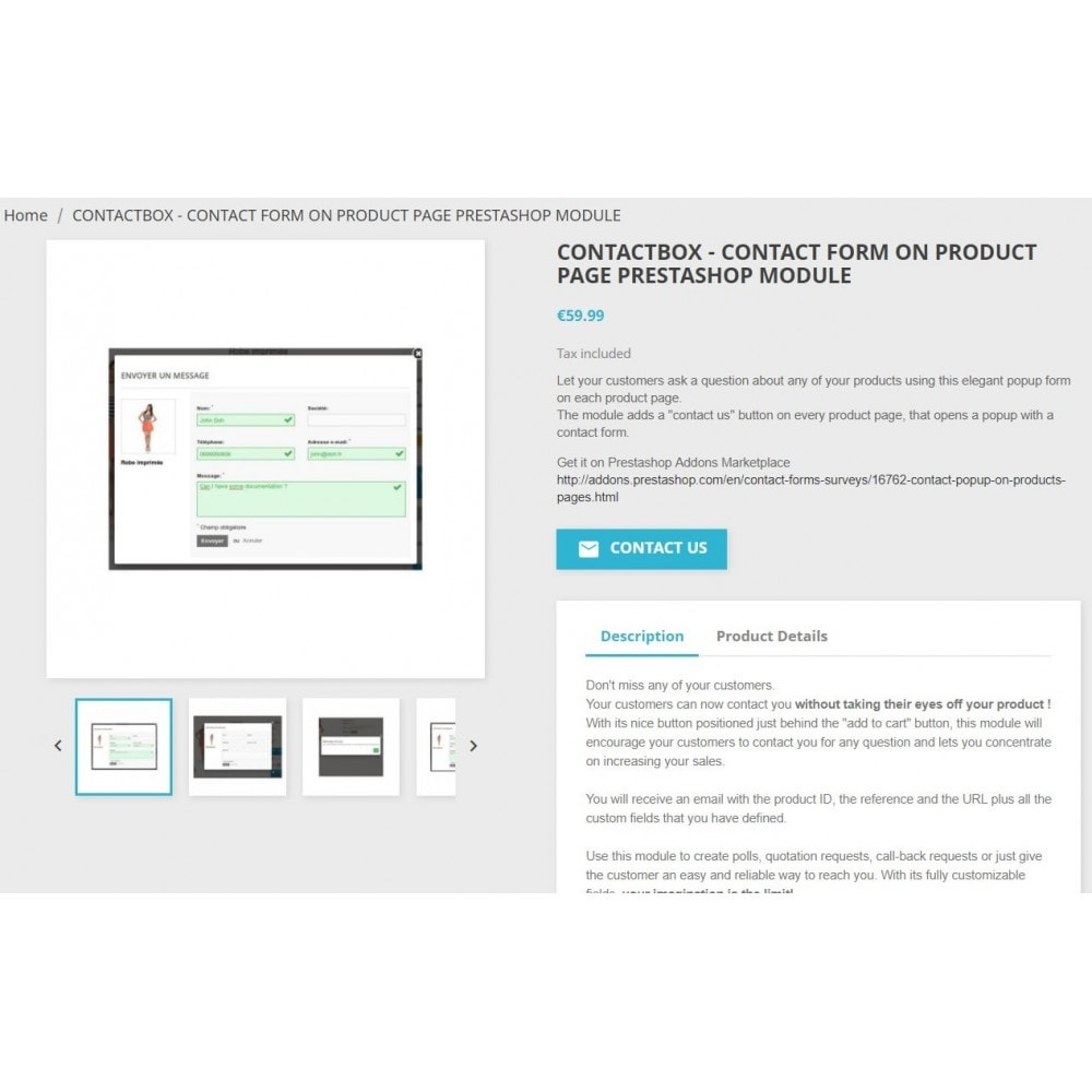 module - Formulaires de Contact & Sondages - ContactBox - Le formulaire multifonction ultime - 2