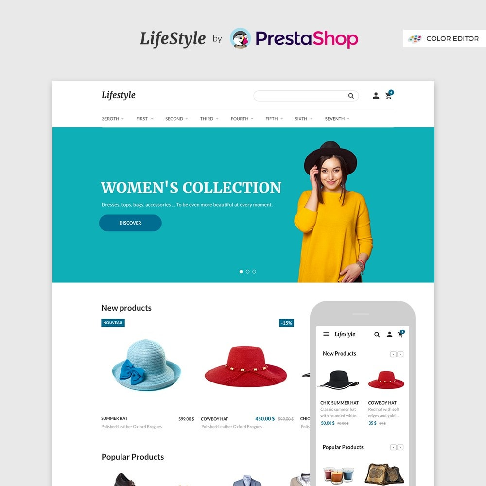 theme - Mode & Chaussures - LifeStyle by PrestaShop - Fashion & Design - 1