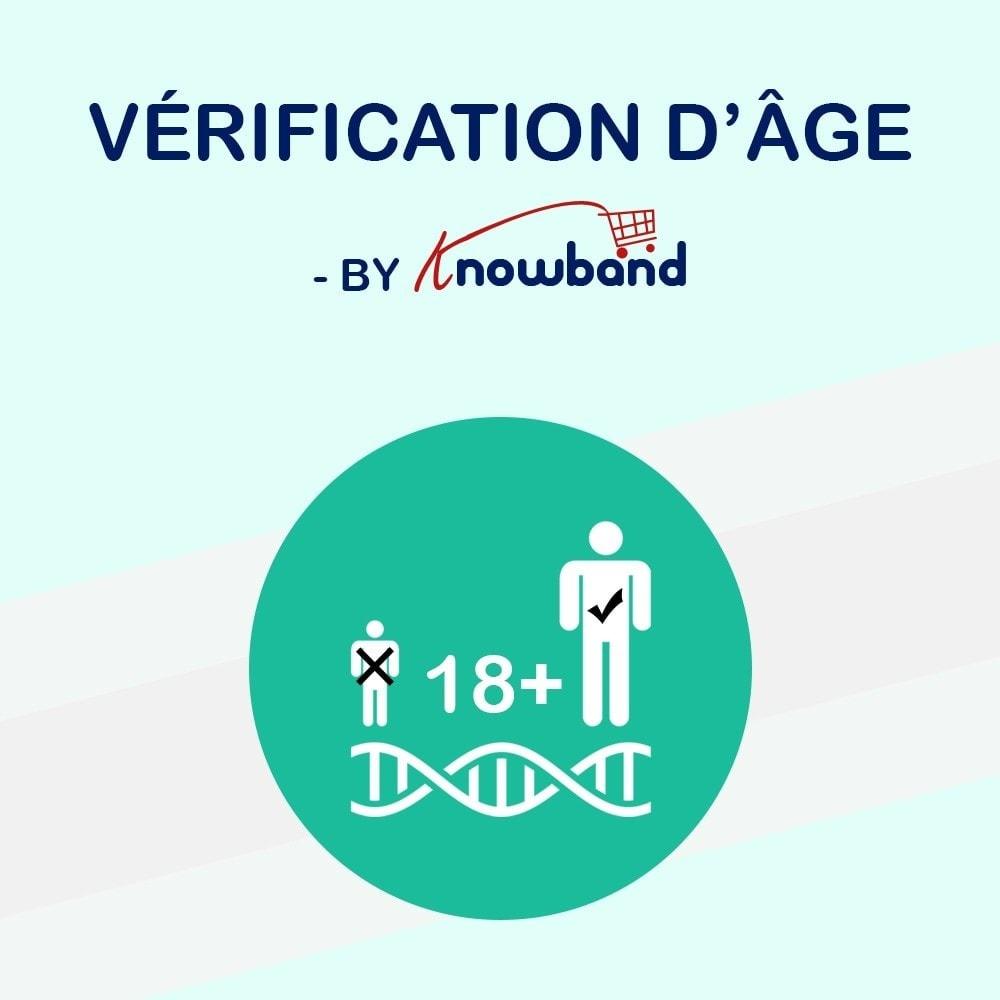 module - Sécurité & Accès - KnowBand Vérification d'Âge (Age Verification) - 1