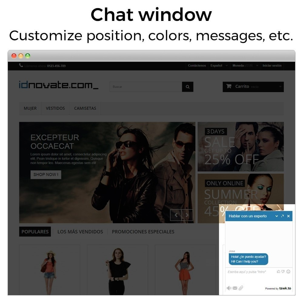 module - Suporte & Chat on-line - Tawk.to - Live chat integration - 2