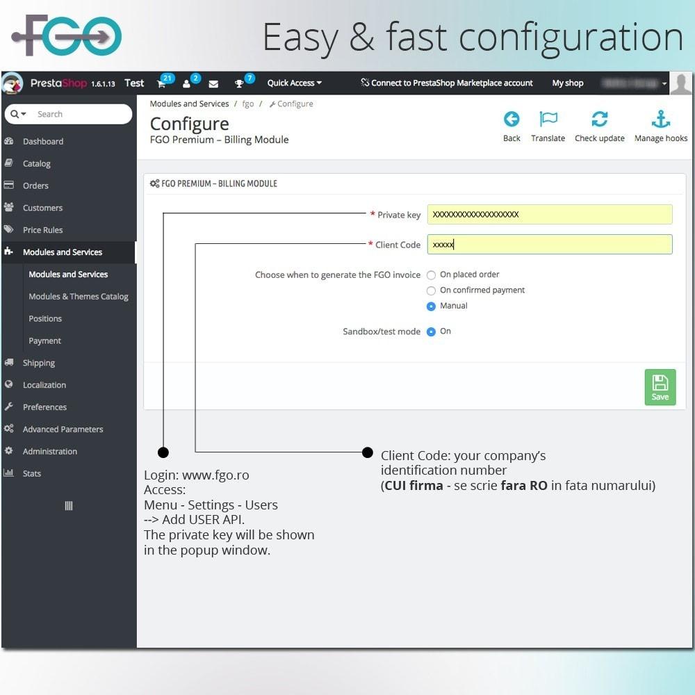 module - Buchhaltung & Rechnung - FGO Premium – Billing Module – Facturare Magazin Online - 3