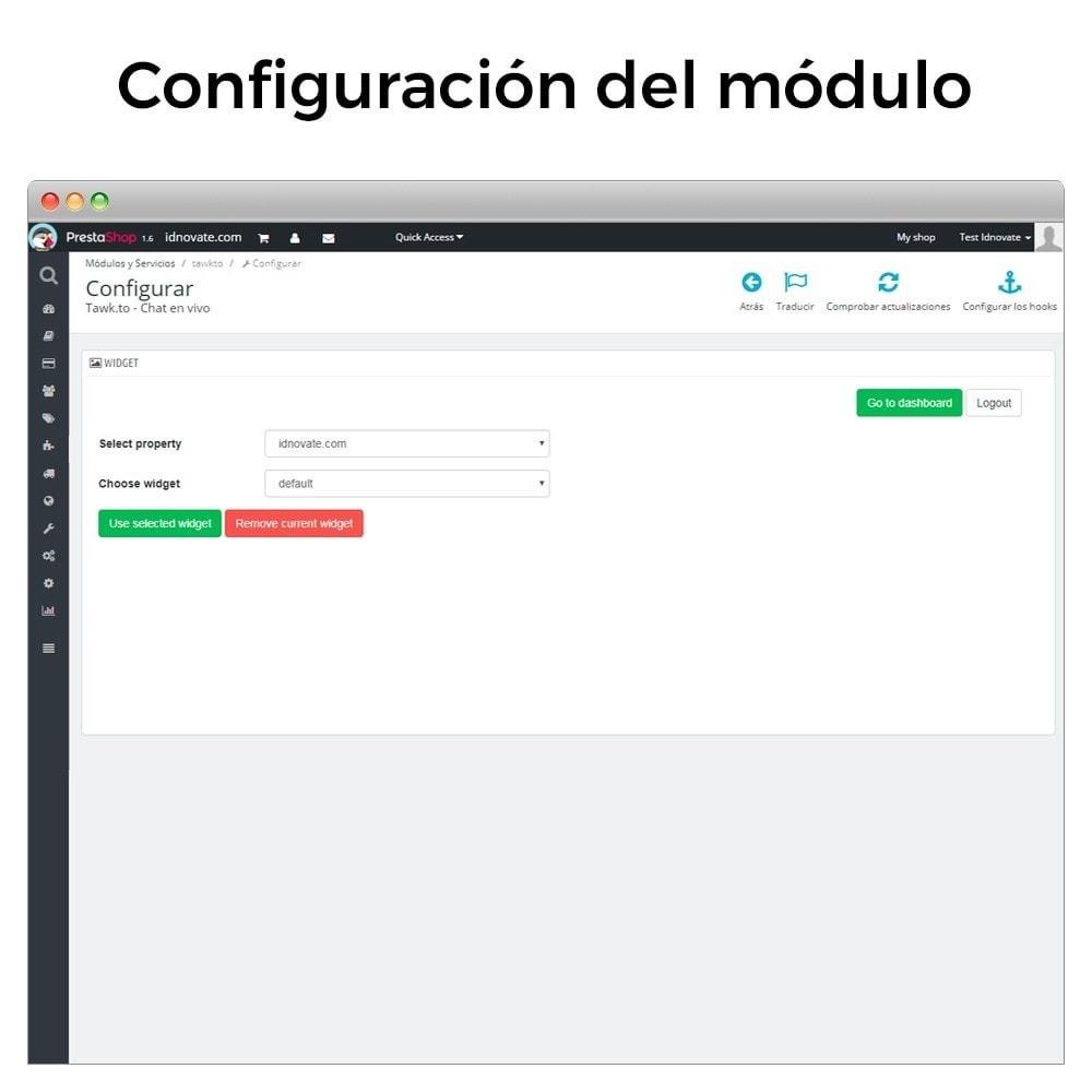 module - Asistencia & Chat online - Tawk.to - Chat integrado en tiempo real - Multilenguaje - 11