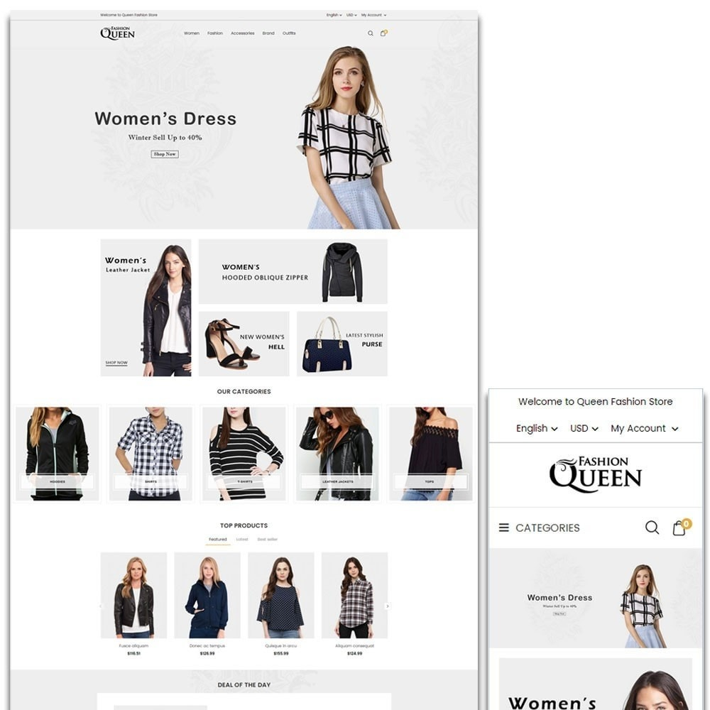 theme - Moda y Calzado - Queen Fashion Store - 1