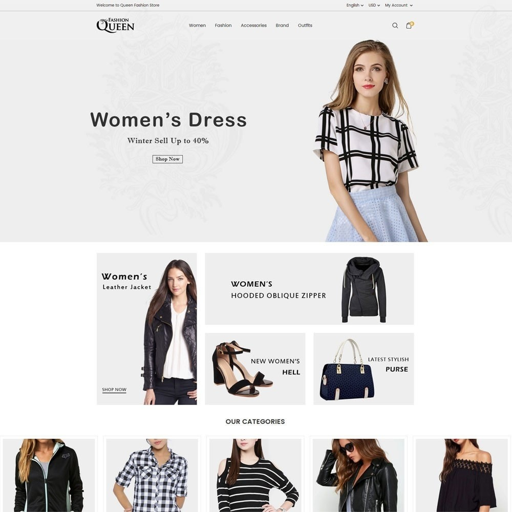 theme - Mode & Chaussures - Queen Fashion Store - 2