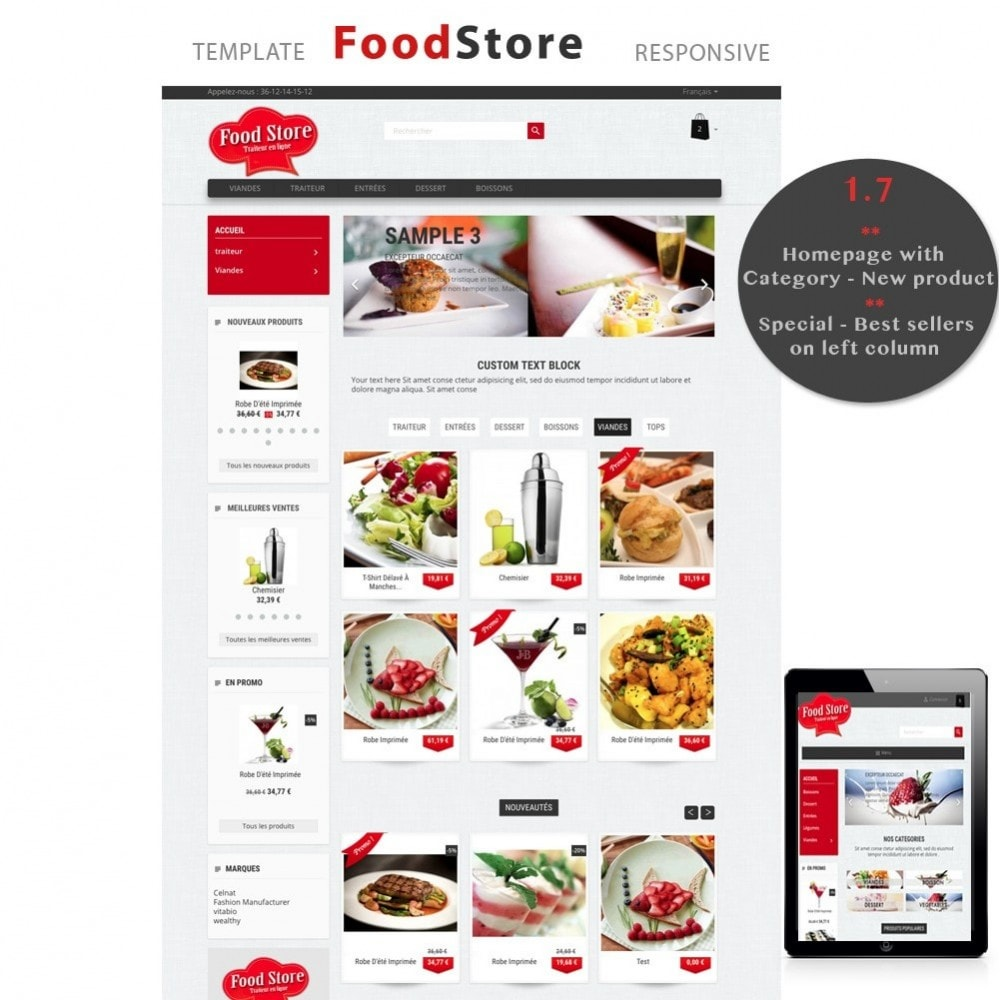 theme - Alimentation & Restauration - Foodstore - 4
