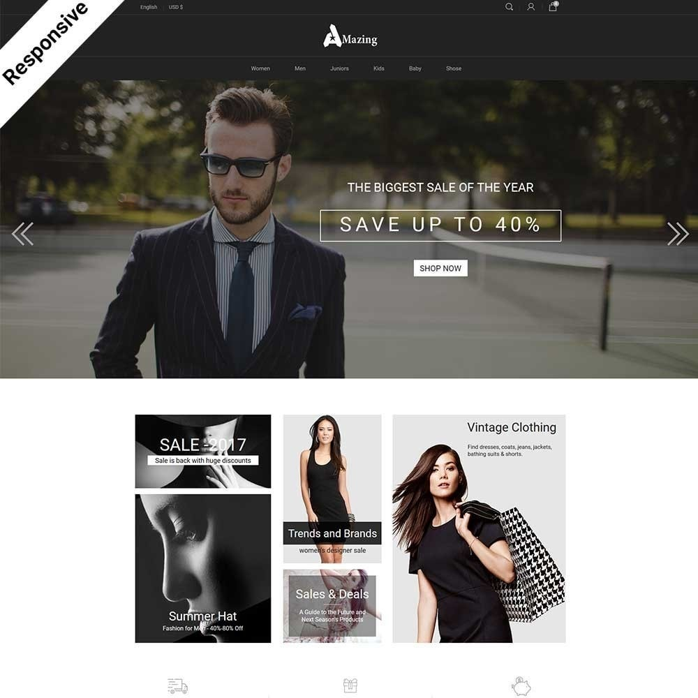 theme - Мода и обувь - Amazing - Fashion Store - 1