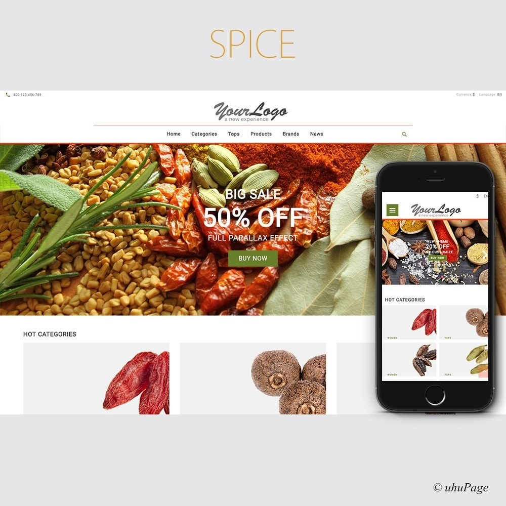 theme - Food & Restaurant - UP Spice Store - 1