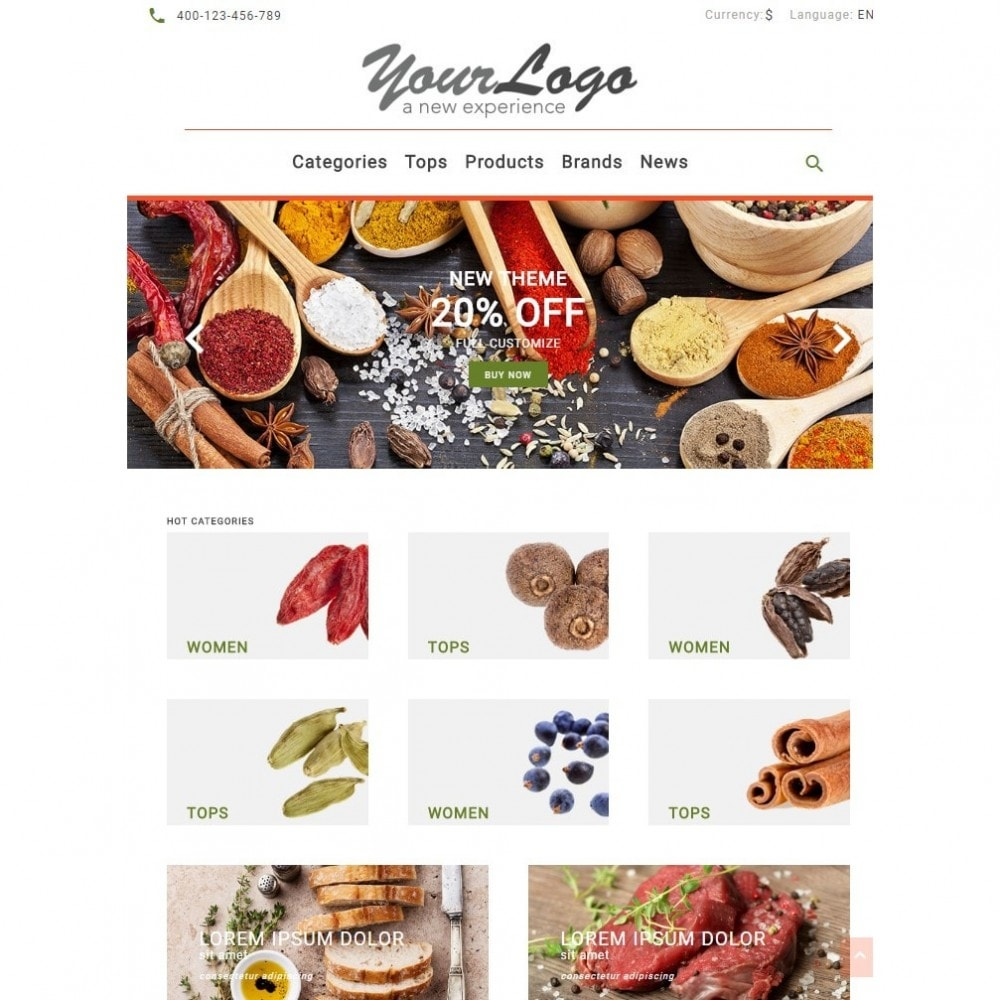 theme - Alimentation & Restauration - UP Spice Store - 5
