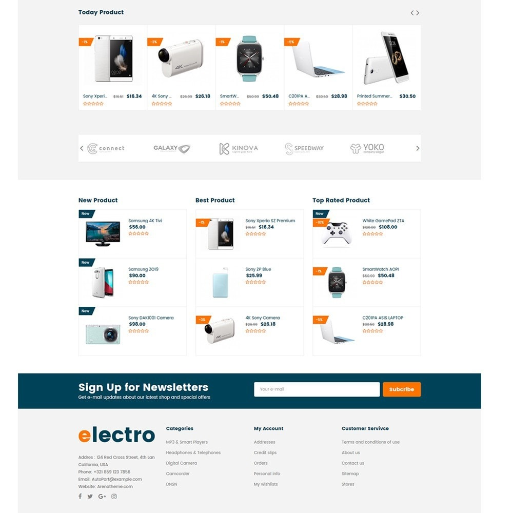 theme - Eletrônicos & High Tech - Electron - Digital, Electronics & Hi-Tech Store - 4