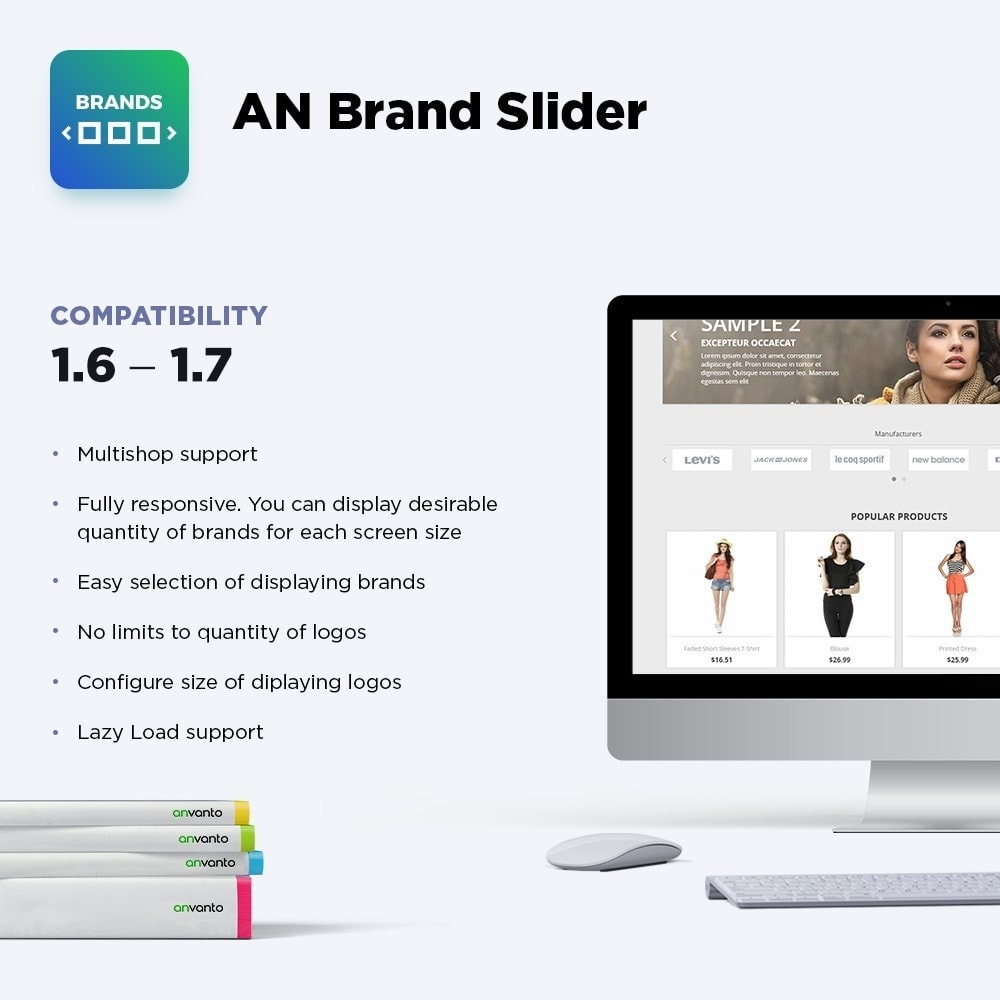 module - Sliders & Galleries - AN Brand Slider: partners, manufacturers logo carousel - 1