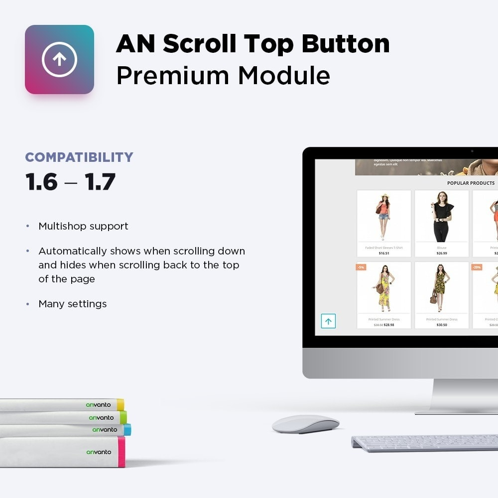 module - Navigation Tools - AN Scroll Top Button Premium - 1