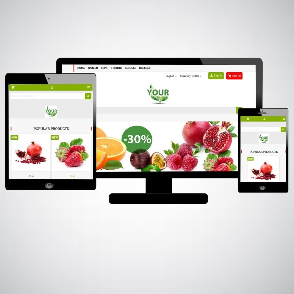 theme - Alimentation & Restauration - FruitsWeb - 1
