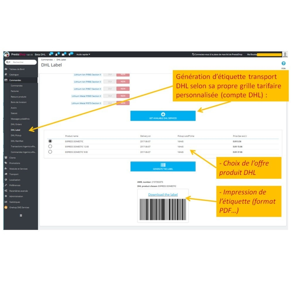 module - Delivery Tracking - DHL EXPRESS ® Official - 9