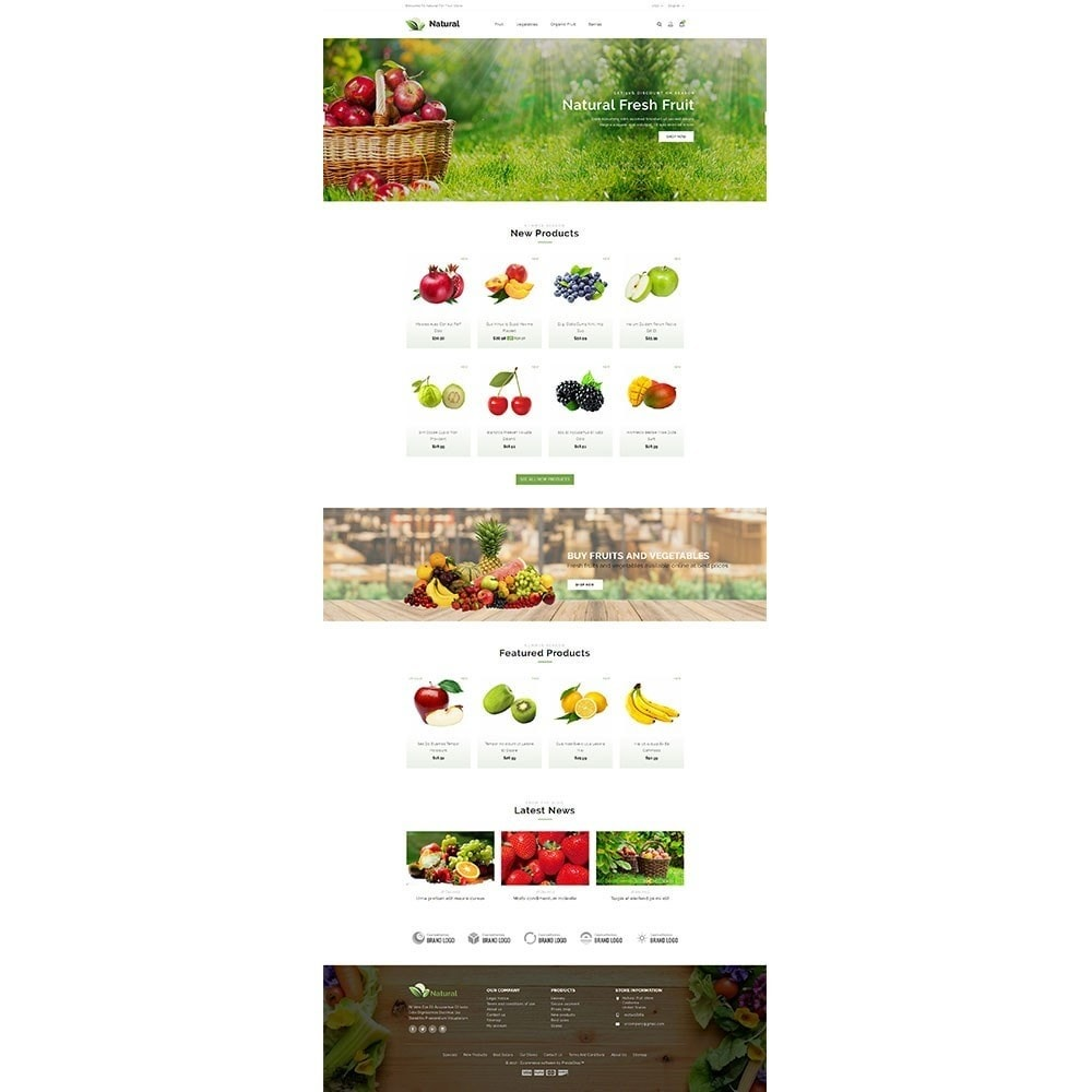 theme - Gastronomía y Restauración - Natural Fruit Store - 2