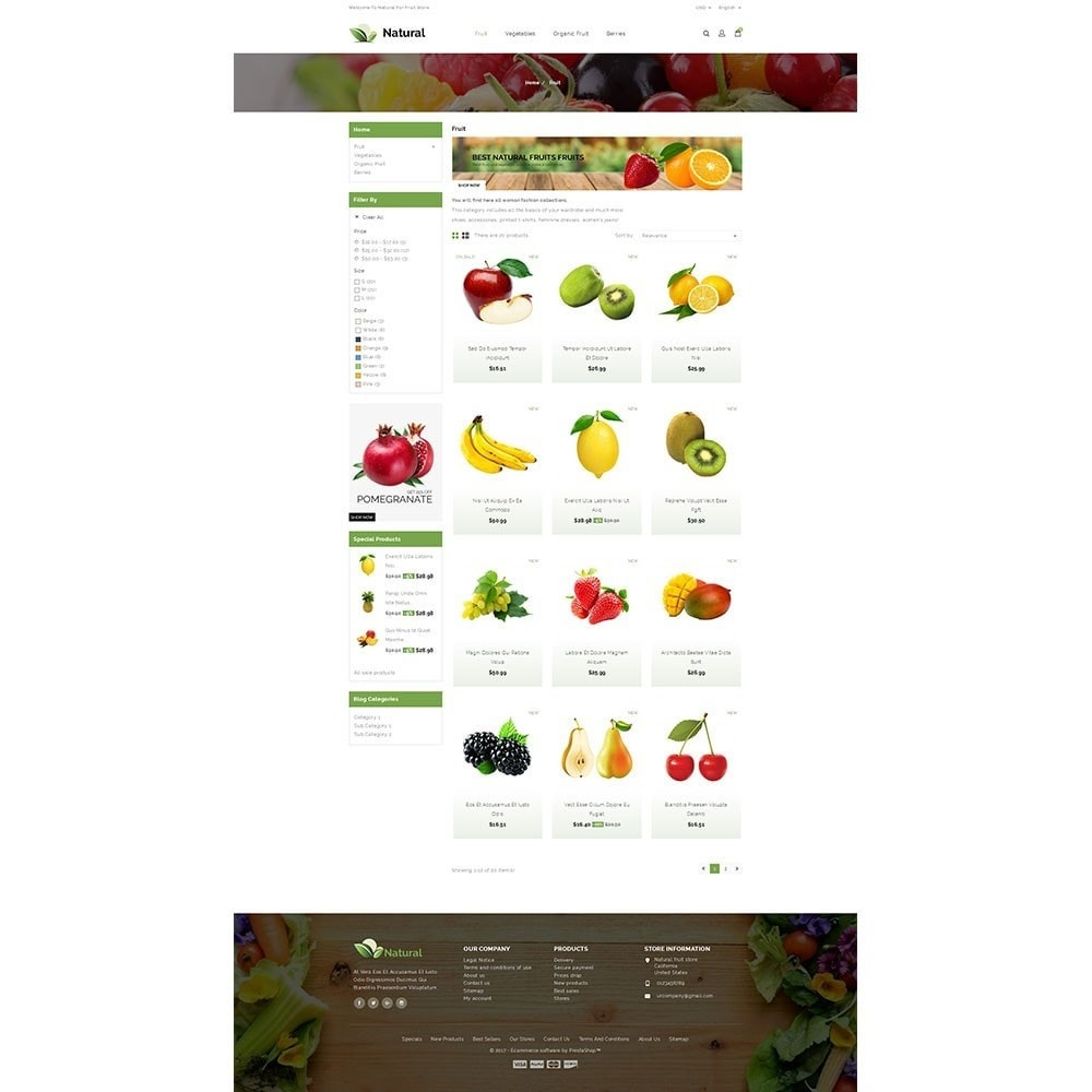 theme - Продовольствие и рестораны - Natural Fruit Store - 3