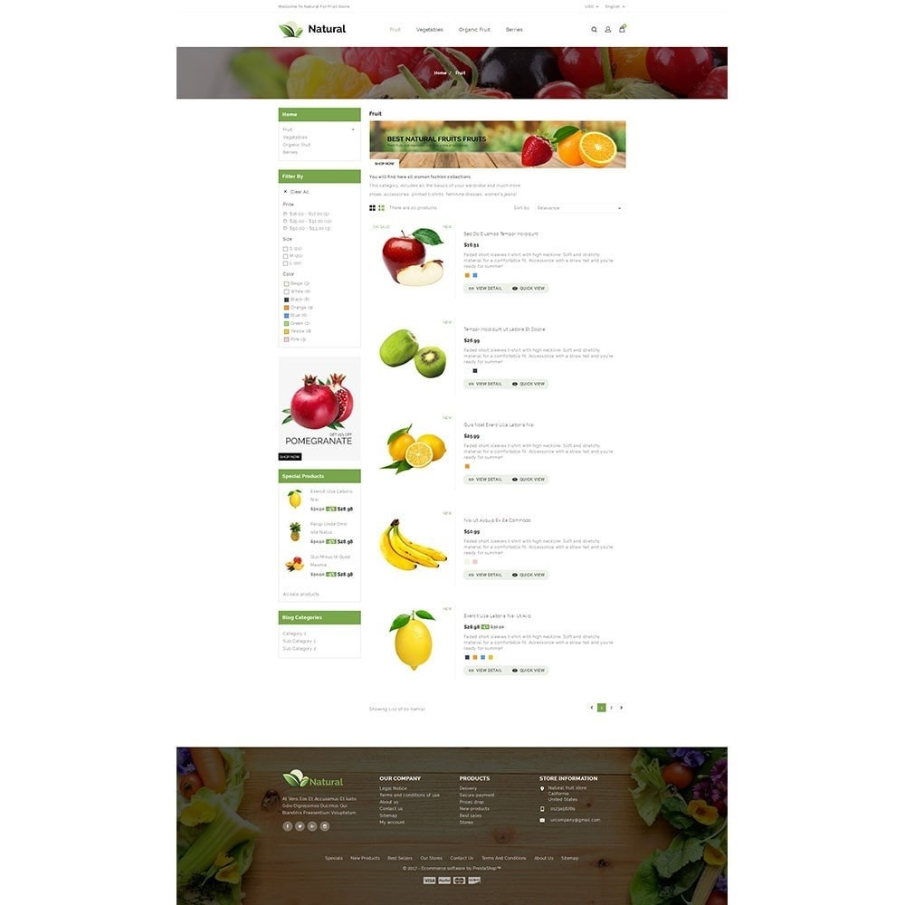 theme - Gastronomía y Restauración - Natural Fruit Store - 4