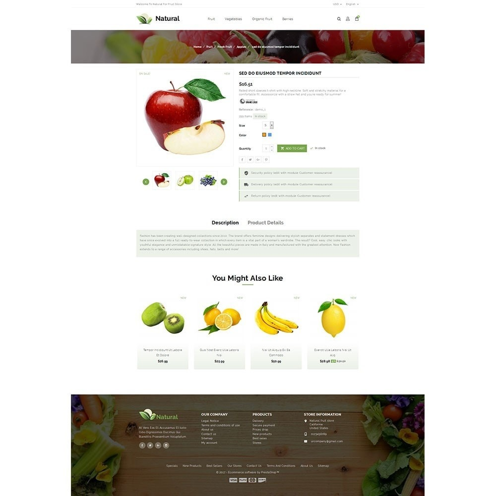 theme - Продовольствие и рестораны - Natural Fruit Store - 5