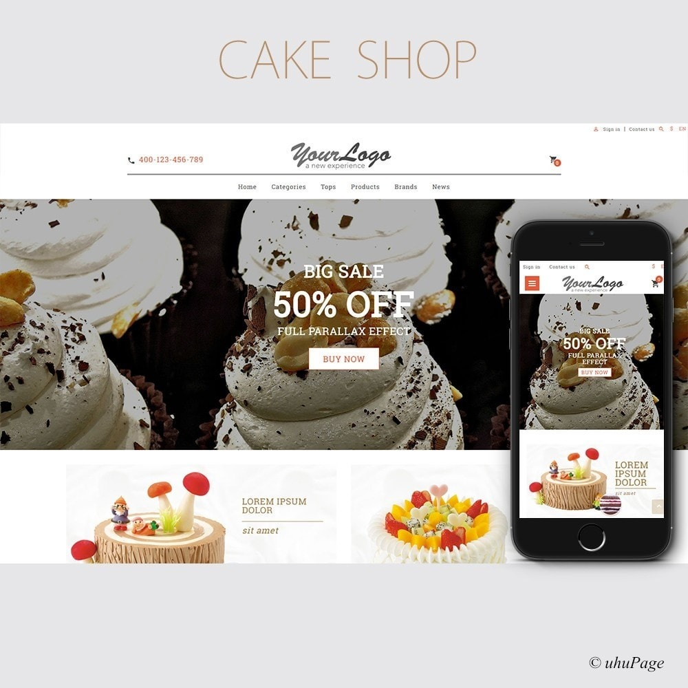 theme - Alimentos & Restaurantes - UP Cake Store - 1