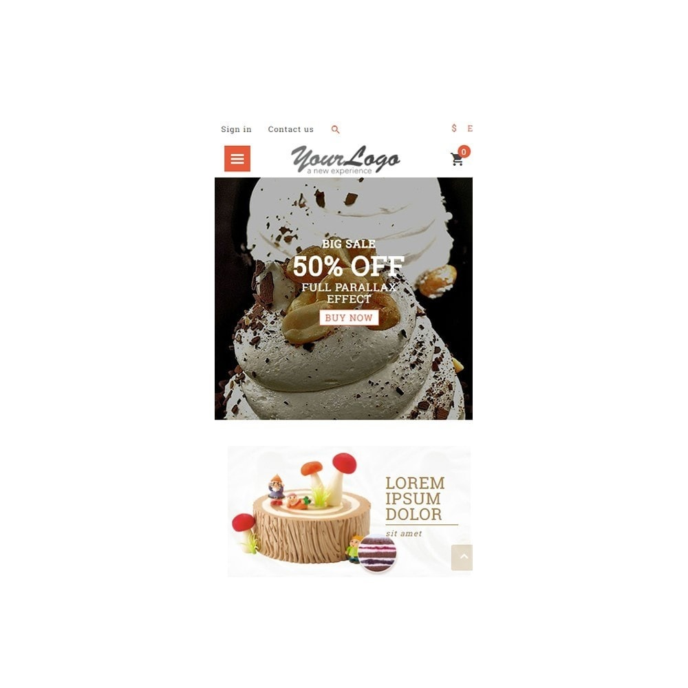 theme - Alimentos & Restaurantes - UP Cake Store - 5