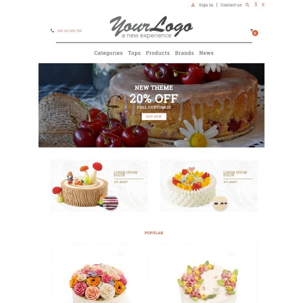 theme - Alimentation & Restauration - UP Cake Store - 6
